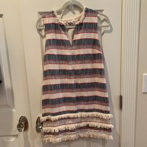 Fun striped Anthro dress with fringe